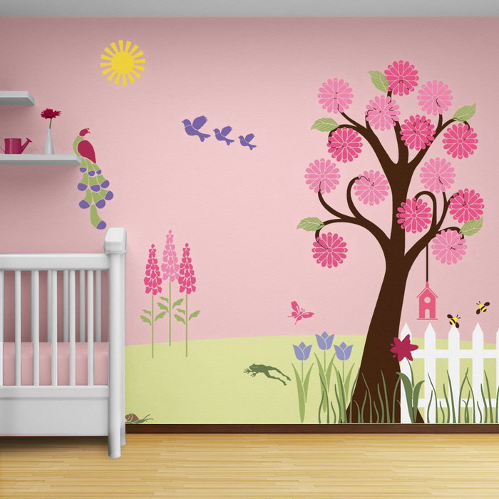 Asian paint wall design to improve your home decoration for Disney wall stencils for painting kids rooms