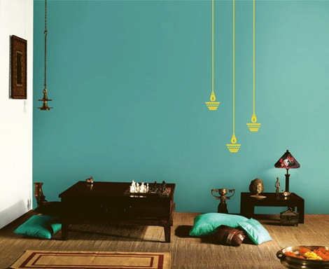 Asian paint wall design to improve your home decoration for Interior wall paint designs