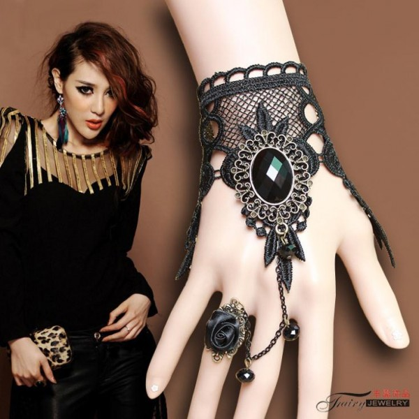 2015-New-Sale-Bridal-Gloves-Gothic-Jewelry-Trend-of-European-And-American-Exports-Rose-Lace-of