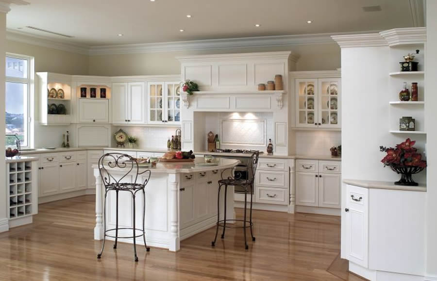 Country kitchen designs with interesting style seeur - Country style kitchen cabinets ...