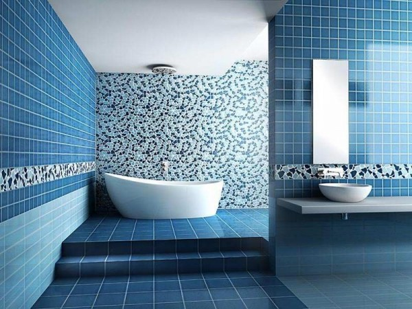 Modern-Bathroom-Tile-Designs-blue-color