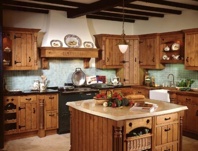 Country kitchen designs with interesting style seeur for Traditional english kitchen