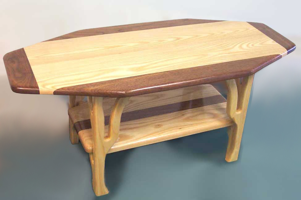 Wooden coffee table with wonderful design seeur for Unusual tables