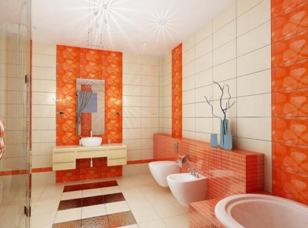 colorful bathroom tiles, bathroom, colorful bathroom
