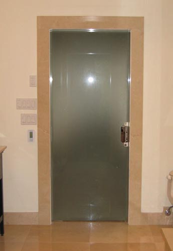 Frosted glass pocket doors for your house seeur Glass bathroom doors interior