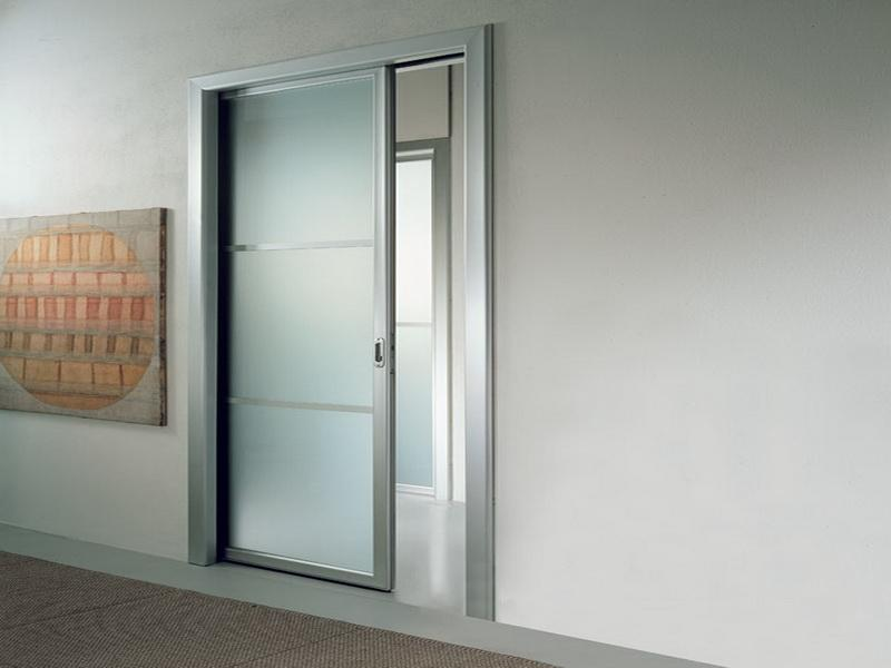 Frosted glass pocket doors for your house seeur for Pocket sliding glass doors