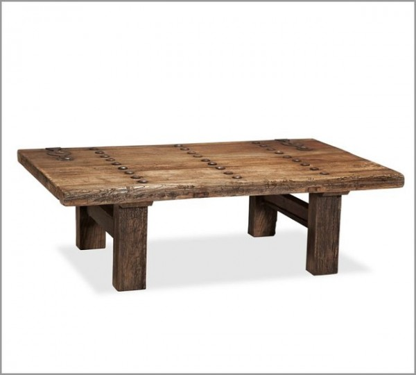 reclaimed wood coffee table metal legs