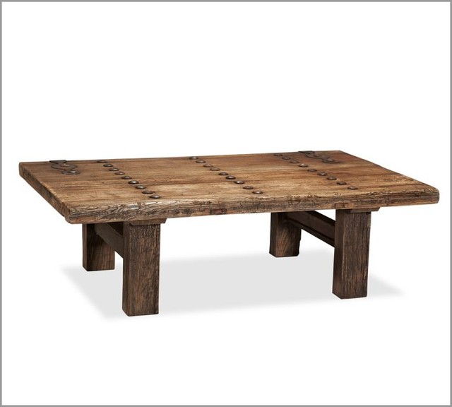 Wooden coffee table with wonderful design seeur for Reclaimed teak wood coffee table