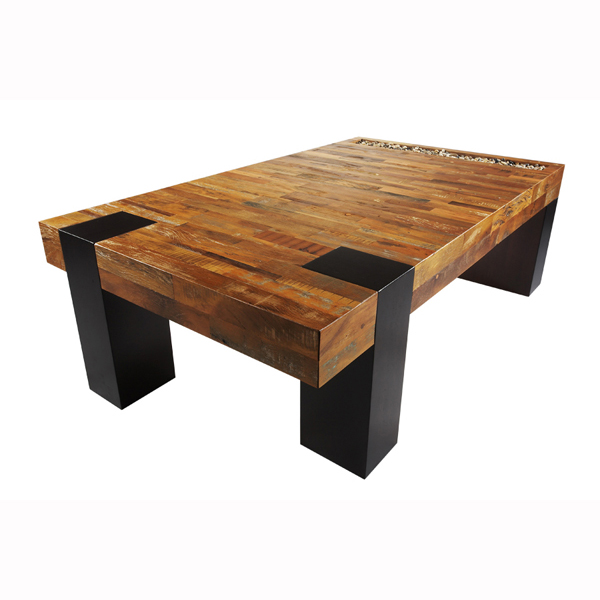 Wooden coffee table with wonderful design seeur for Unusual coffee tables