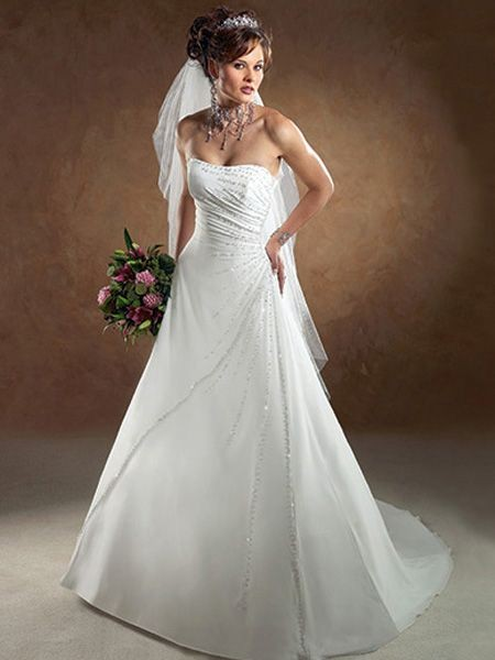 best necklace for strapless wedding dress