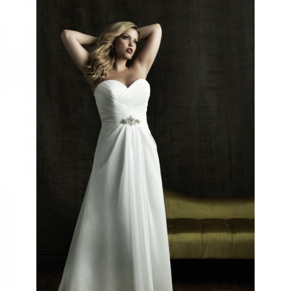 cheap-casual-plus-size-strapless-chiffon-wedding-gown