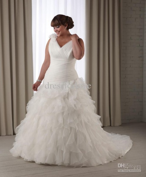 cheap-plus-size-wedding-dress-with-ruffles