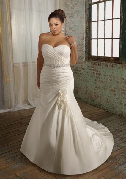 cheap plus size wedding dresses tea length
