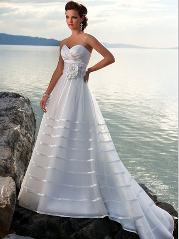 Strapless Wedding Dresses Beach