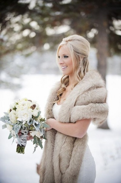 winter wedding dress coat with faux fur fl 6362