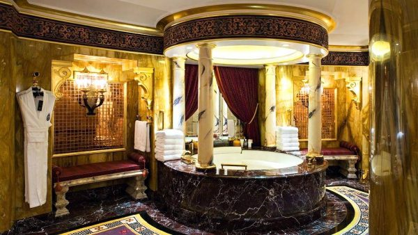 Arabian style luxury gold bathroom