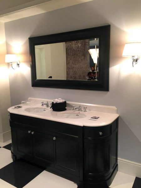 Black double large vanity