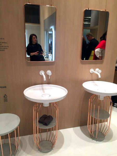 Copper Wire bathroom vanity minimalist style