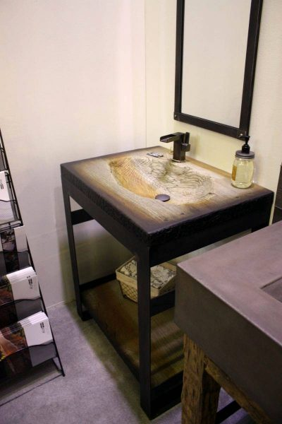 Driftwood finish wash basin