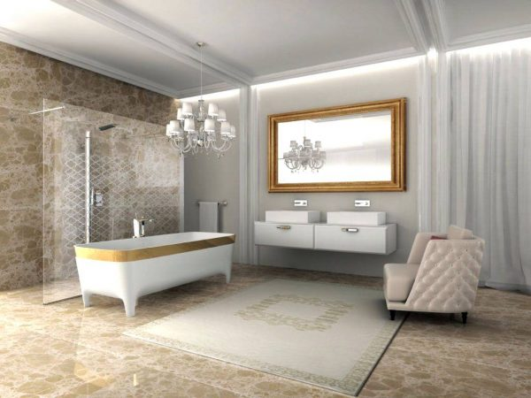 Large armchair for bathroom seating