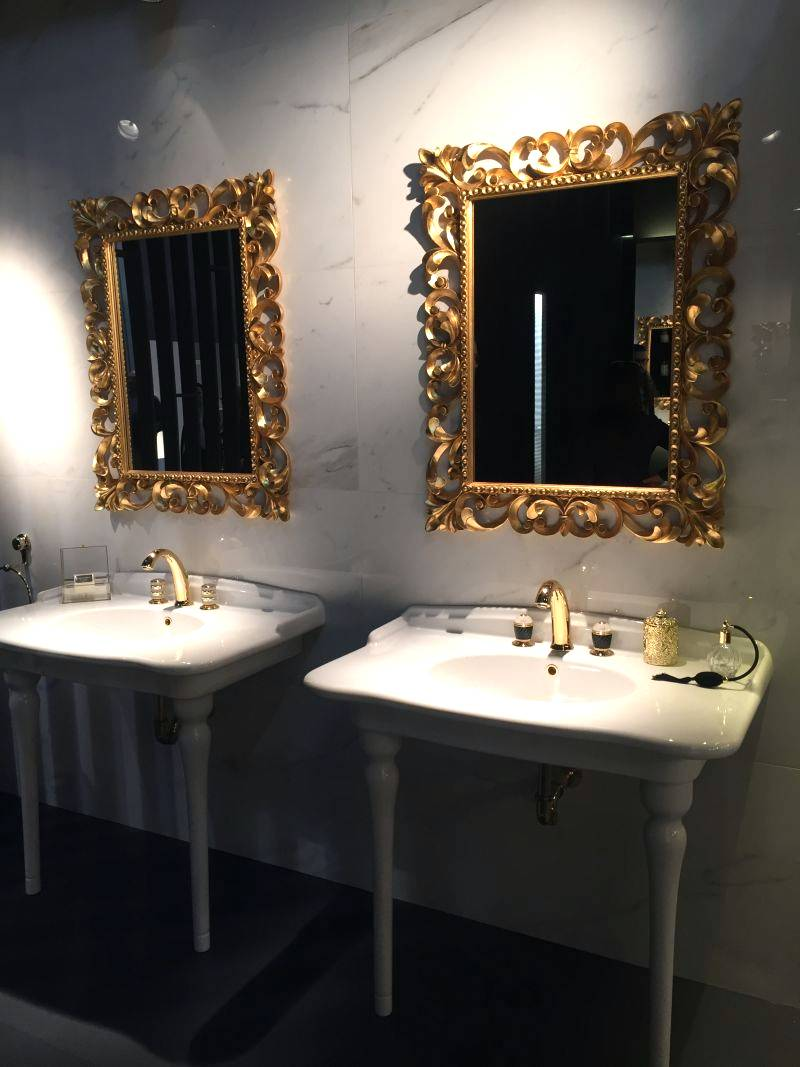 Gold Framed Bathroom Mirrors timelessly luxurious bathroom interior inspirations for you | seeur