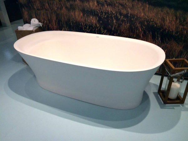 Modern soaking tub for a spa like bathroom