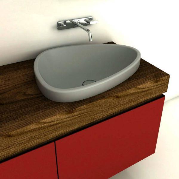 Pebble shaped basin
