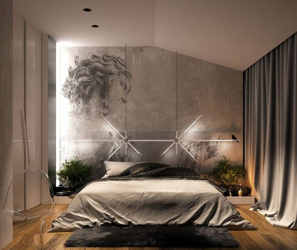 artistic bedroom lighting theme