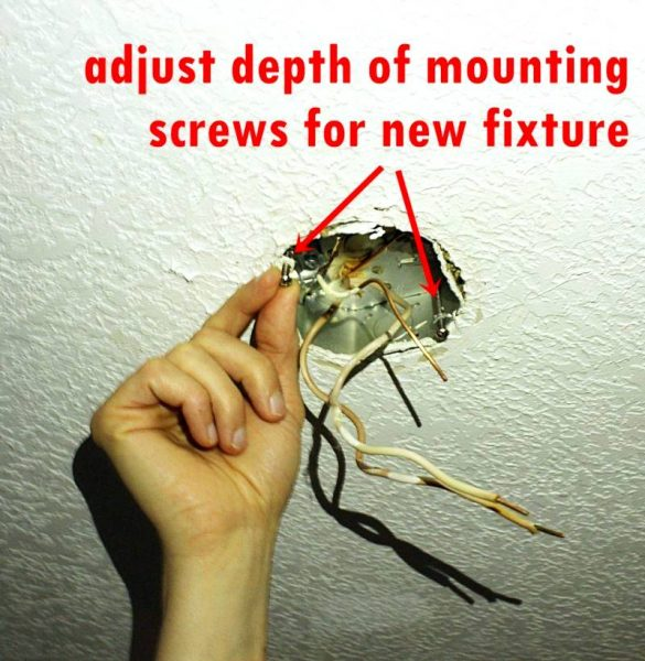 Hooking up your new fixture