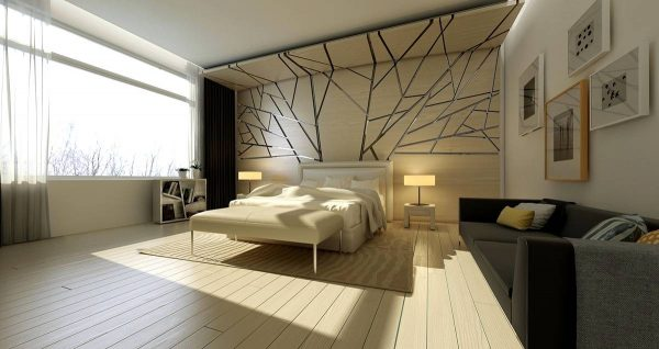 bedroom feature wall texture
