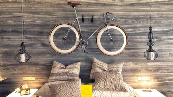 bicycle headboard inspiration