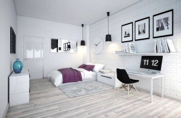 black and white scandinavian color accents