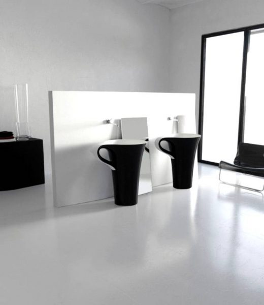 Black bathroom basins