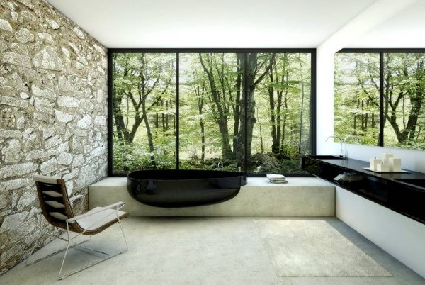 Black bath tub