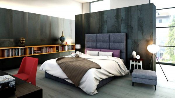 black bedroom wall texture