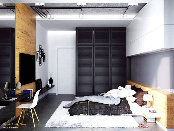black bedroom wardrobe