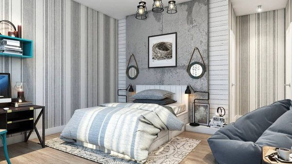 concrete wall texture bedroom