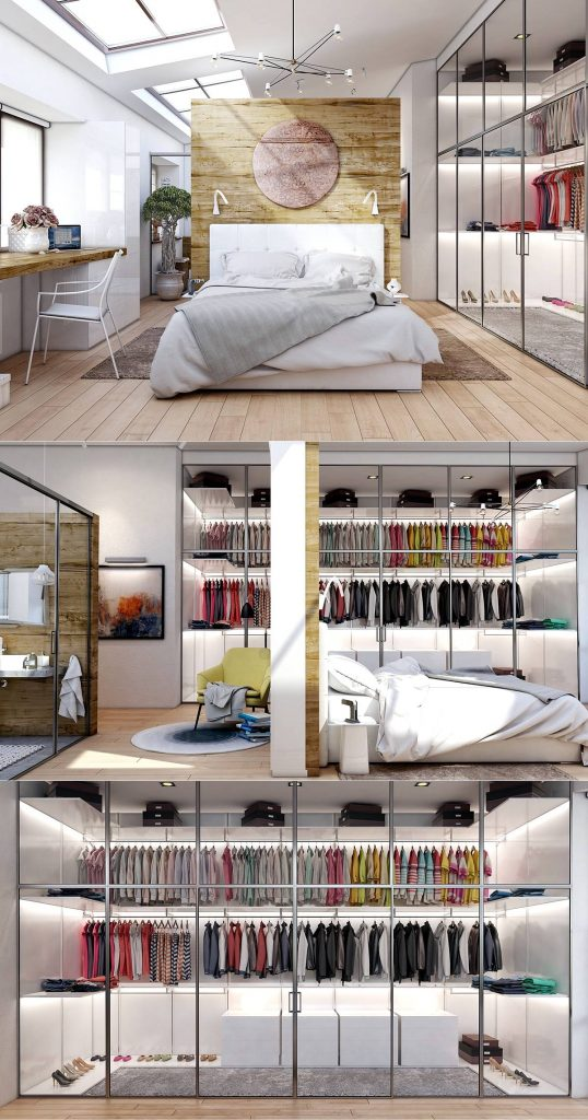 bedroom walk in wardrobe inspiration