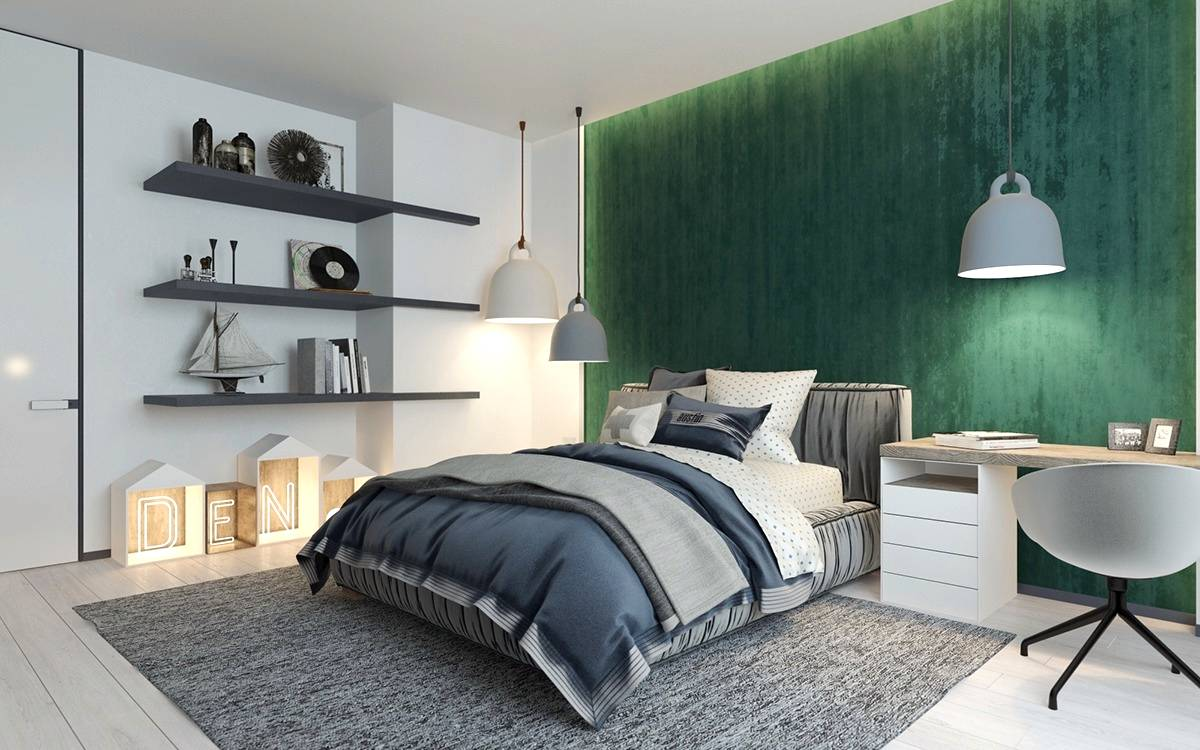 gorgeous gray gold  green bedrooms seeur
