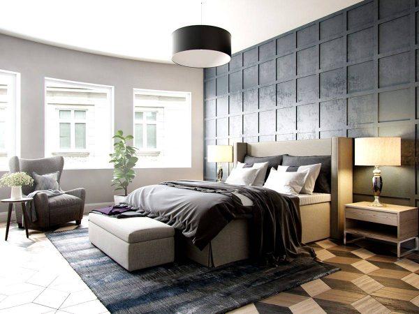 dark luxury bedroom design