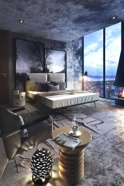 enchanting dark bedroom theme