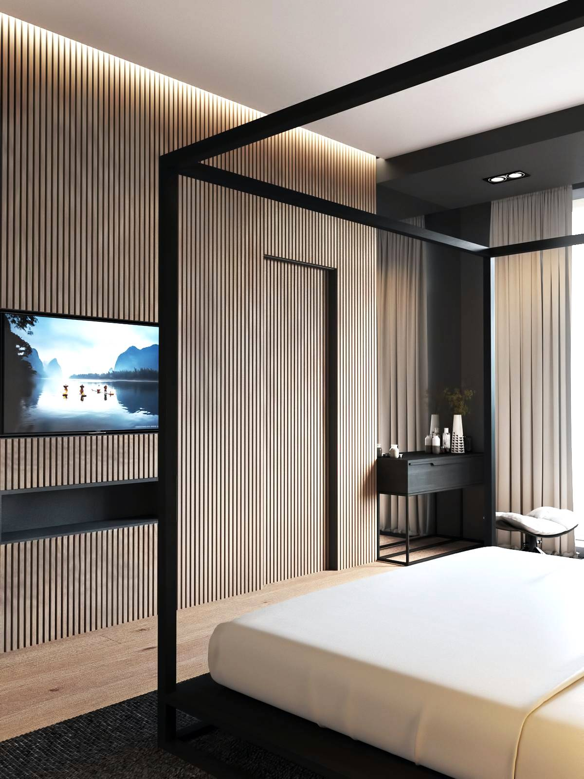 How To Decorate Bedroom With Luxury Bedroom Wall And