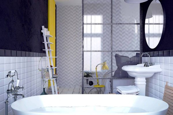 geometric bathroom patterns