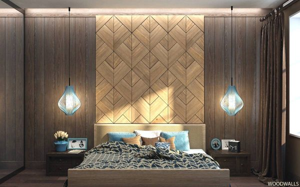 geometrick wood pattern wall