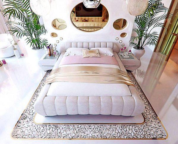 glamorous pink bedroom design