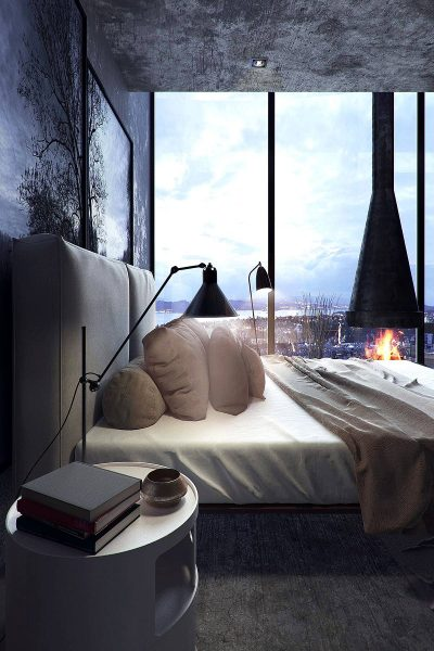 gorgeous dark bedroom inspiration