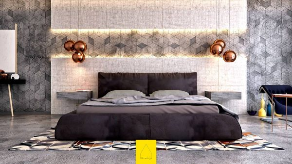 inspiring bedroom accent wall