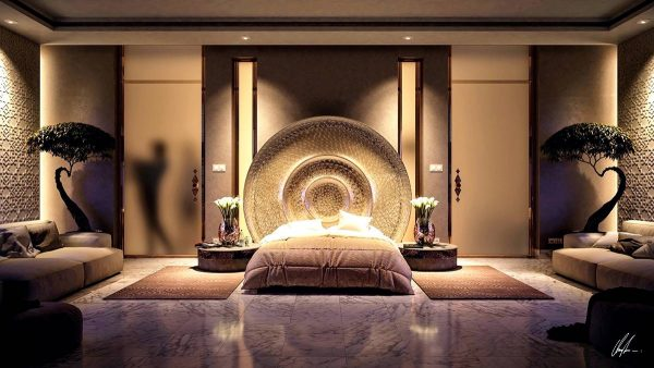 luxurious bedroom lighting theme