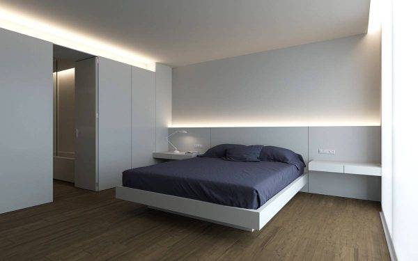 minimalist lighting for the bedroom
