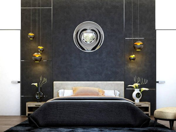 modern art deco bedroom